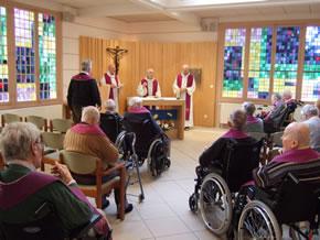 Eucharistie, dans la nouvelle chapelle
