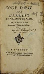 Condamnation des jésuites par le parlement de Paris