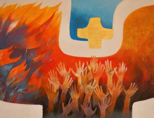 Le peintre Arcabas à l'honneur dans la chapelle du Christ-Roi au Luxembourg