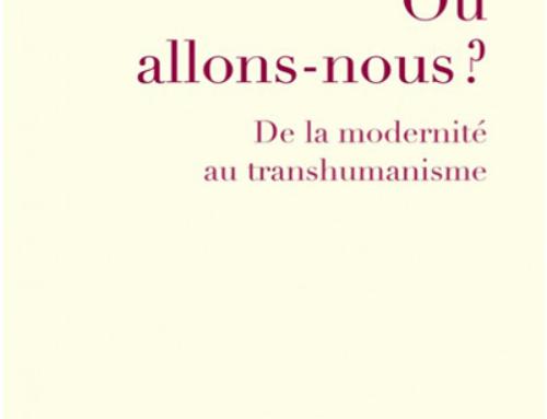 Où allons-nous? De la modernité au transhumanisme, du P. Charles Delhez sj
