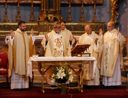 Derniers vœux du P.Nicolas Steeves sj à Rome, le 8 septembre