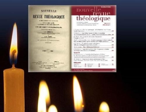 Pour fêter ses 150 ans, la Nouvelle revue théologique (NRT) organise un colloque les 10 et 11 novembre