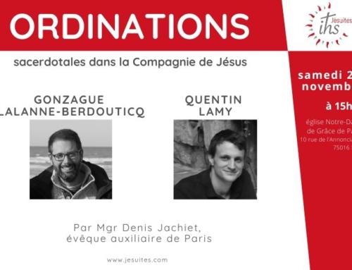 Ordinations de Quentin Lamy et Gonzague Lalanne-Berdouticq